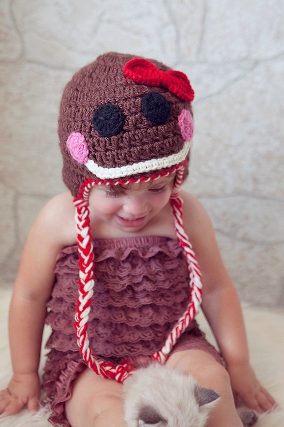 Crochet Pattern - Gingerbread Man Hat