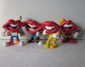 Vintage Tang Lips PVC Figures Set