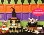 Lil' Witches Collection : DIY Printable Halloween Decorations | Witch Hat | Witch Shoes | Halloween Party Decoration | INSTANT DOWNLOAD