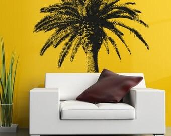 Vinyl Wall Decal Sticker Coconut Tree OSAA228B