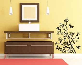 Vinyl Wall Decal Sticker Springtime Tree 1004m