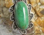Native American Green Jasper Ring