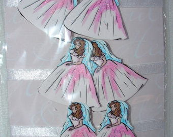 Bridal Shower Name Tags Set of 6