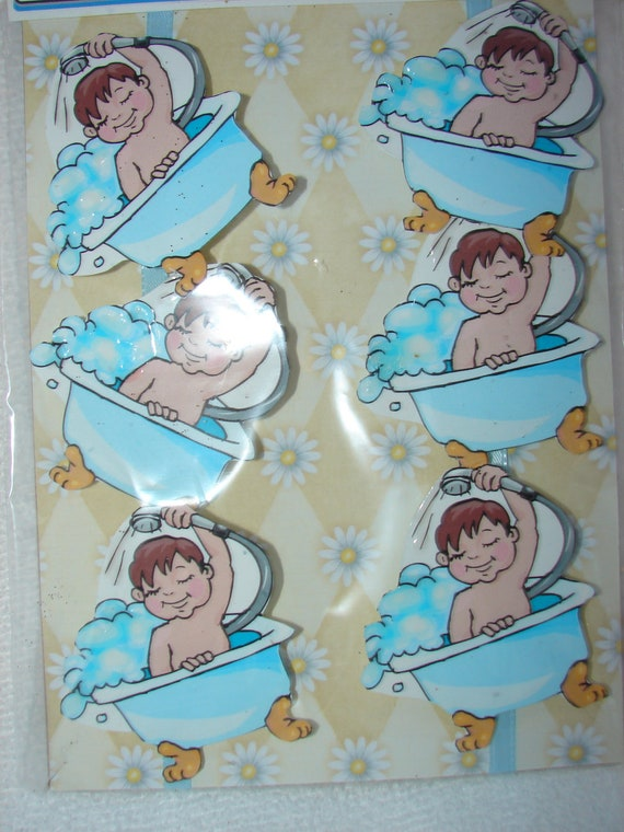 baby shower name tags set of 6