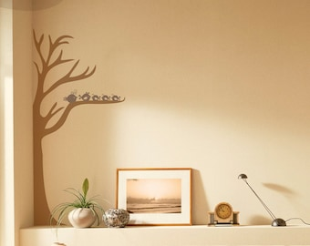 Half Tree and Birds - Vinyl Wall Decal