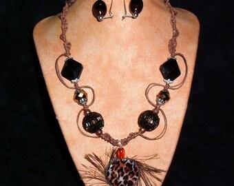 Hemp necklace K2 Animal Sun