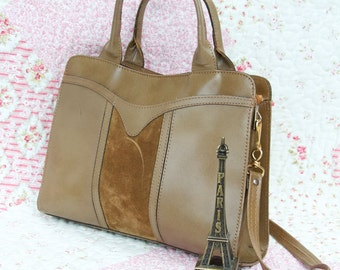 Jackie, French Vintage, 1960s Slate Green Vegan LeatherHandbag from Paris
