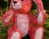 Robbie OOAK Handmade Miniature Mohair Teddy Bear (Rabbit) by Lisabears
