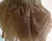 Tea stained upcycled rag skirt