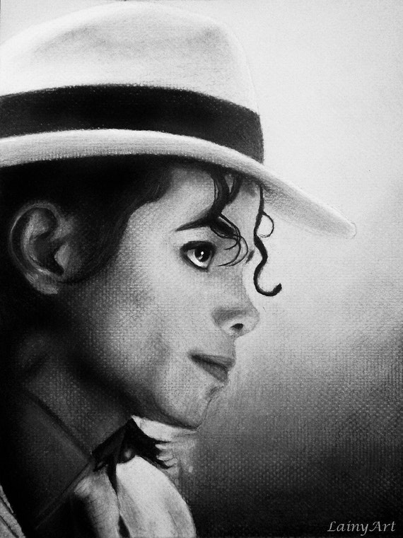 Drawing Smooth Lines Canvas : Michael jackson portrait stretched canvas print