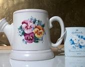 HALLMARK Pansies Mug 4U Coffee Cup Gift Idea Flowers for Mom or Grandma Collectible Vintage