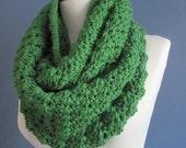 Chunky Scarf cowl, Green scarf, chunky cowl scarf, chunky infinity scarf,  neckwarmer,100% peruvian highland wool yarn, scarves, wrap