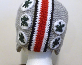 Ohio State Buckeyes Helmet- Beanie-Hat-Football-Team Spirit-Made to Order-Unisex-All Sizes