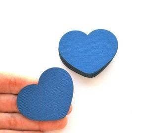 Love Heart Die Cuts 1.5 x 1 inch confetti Die cut, Set of 70 Choose your color Heart Die Cuts A451