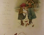 Crumbs For Robin, Lizzie Mack original book page from A Christmas Tree Fairy, with poem
