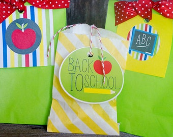 Back To School PRINTABLE Party Tags (INSTANT DOWNLOAD) by Love The Day
