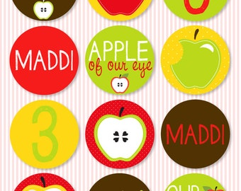 Apple PRINTABLE Party Circles by Love The Day