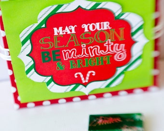 Christmas PRINTABLE Party 'May You Season Be Minty & Bright' Neighbor Gift Tags by Love The Day