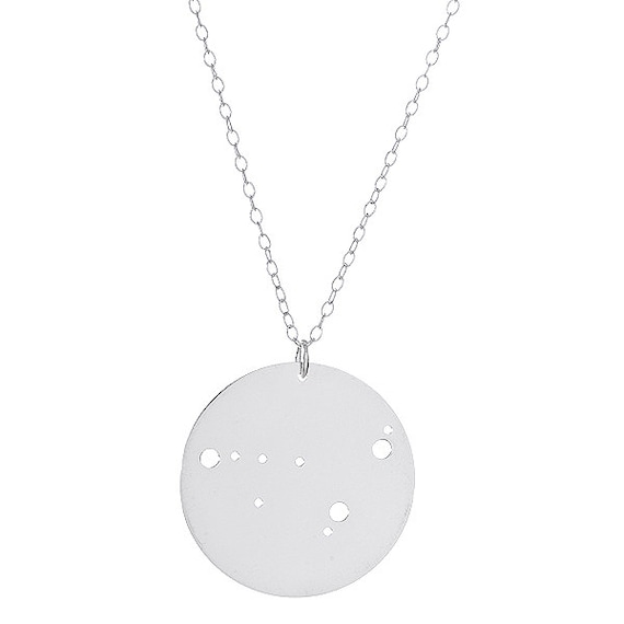 Sterling Silver Capricorn Constellation Pendant Necklace