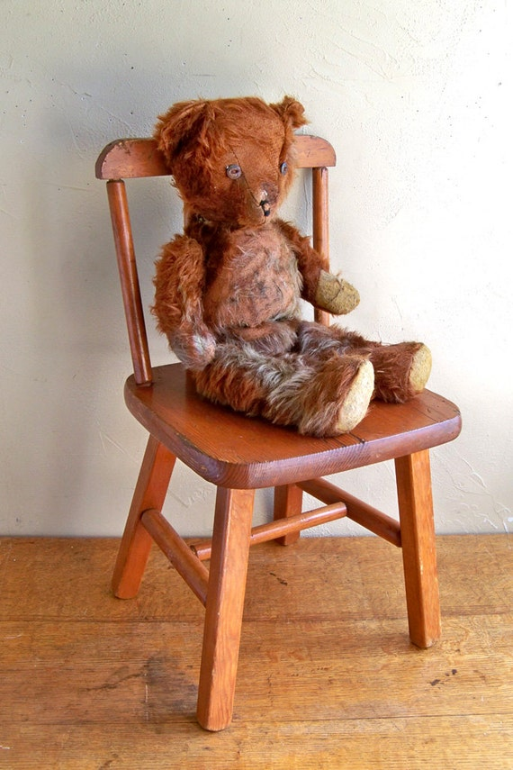 Distressed Teddy Bear - Well Loved Bear Needs New Home