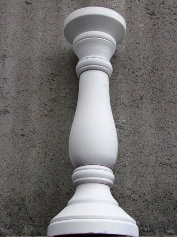 ensemble de 6 six blanc bougeoir en bois bois peint candle. Black Bedroom Furniture Sets. Home Design Ideas