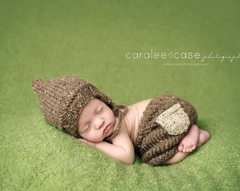 Download PDF knitting pattern k-37 - Lightweight pixie bonnet and shorts with pocket