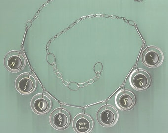 Early 1900s Typewriter Key Necklace