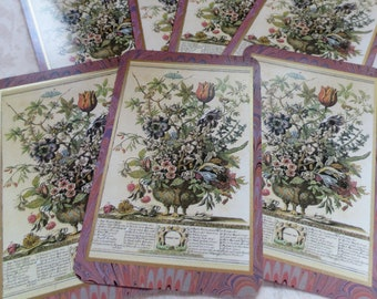 6 Bowles Floral Botanical Prints Winterthur Playing Cards