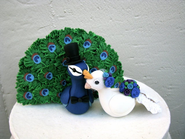 peacock wedding cake topper peacock keepsake wedding cake topper 18161