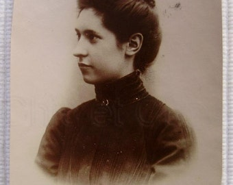 Antique French Photo - Young Woman