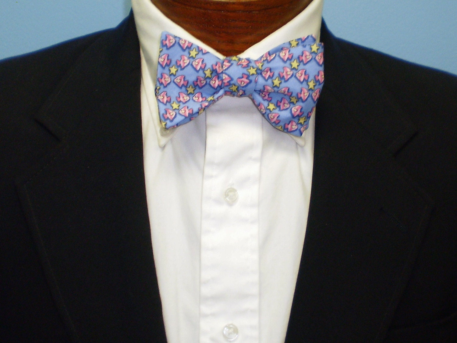 Fish and starfish self tie bow tie by barrybeaux on etsy for Fish bow tie
