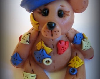 Polymer Clay Patchwork Sailor Bear