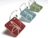 flower dangle earrings - modern plastic jewelry - simple style