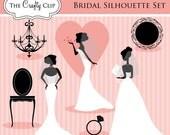SALE! Bridal Silhouette Set