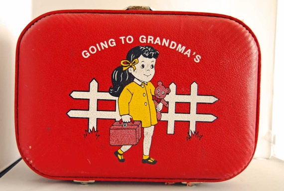 Vintage Children's I'm going to Grandmas Red Girl