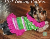 Dog Clothes Sewing Pattern -S205 Small Dog Fleece Sweater Sewing Pattern, 5 Sizes, 2 Styles Included