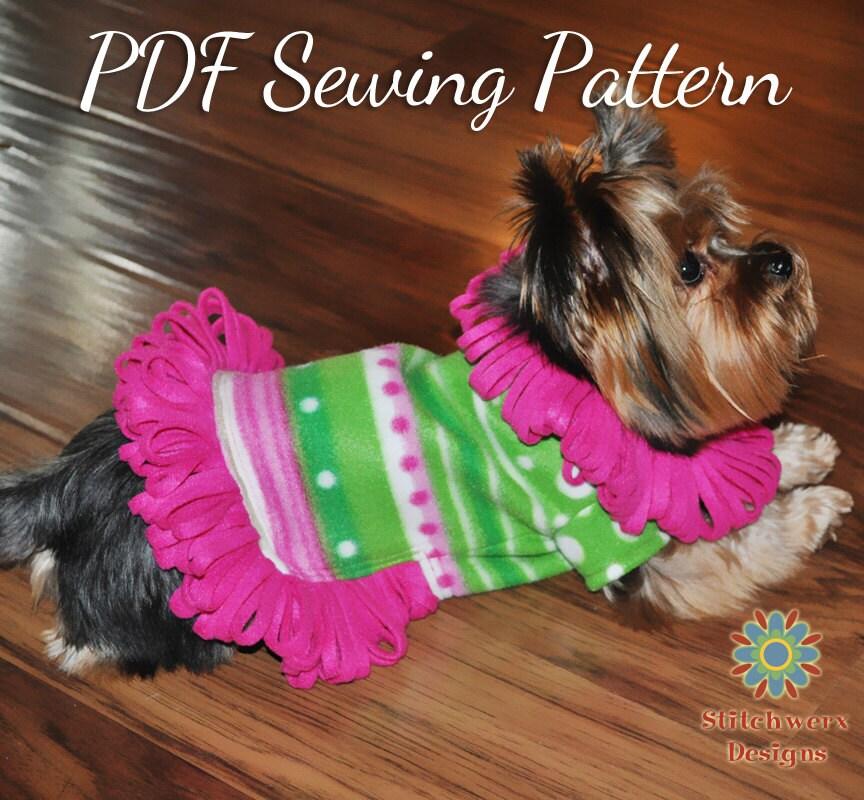 Dog Sweater Sewing Pattern Dog Fleece Sweater Pattern