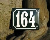 "Enamel House Number 4.3"" x 5.5"""
