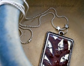 Silver bezel polymer tree pendant DISCOUNTED 50%