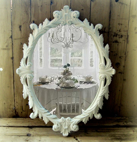 Huge French Rococo Mirror Shabby Chic Mirror