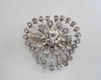 Stunning vintage brooch, crystal brooch, dramatic brooch, retro brooch, classic brooch, vintage jewelry, jewellery