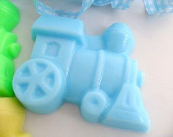 25 TRAIN BULK SOAPS - Train Party Favor, Train Birthday Party Favor - Train Baby Shower Favor, Train Engine, Transportation (Soaps Only)