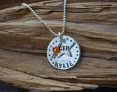 CTR Personalized Sterling Silver Necklace - Mormon Baptism - Religious Jewelry - Choose the Right - LDS - Stamped Name Jewelry