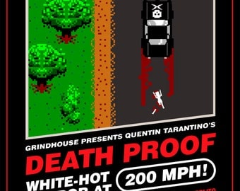 Death Proof 8-Bit Game Style Print - 12x16