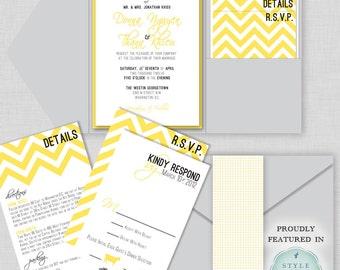 wedding invitation - Luscious Chevron