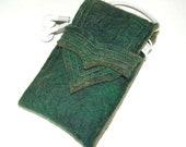 Wool Felt iPhone Case - iPod Case - Dark Green Merino Felt Wool