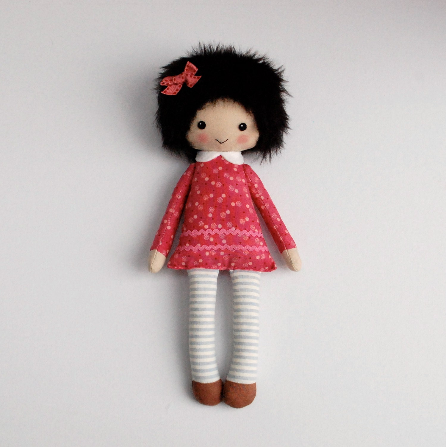 Rag Doll In Pink Dress Cloth Doll