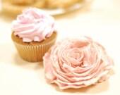 50% SALE Pink brooch. Felted pastel pale rose flower cream wedding bridesmaid gift idea peach spring summer fashion neutral