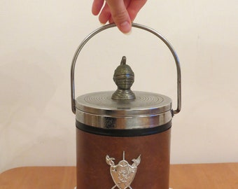 Vintage Coat of Arms 70s Ice Bucket