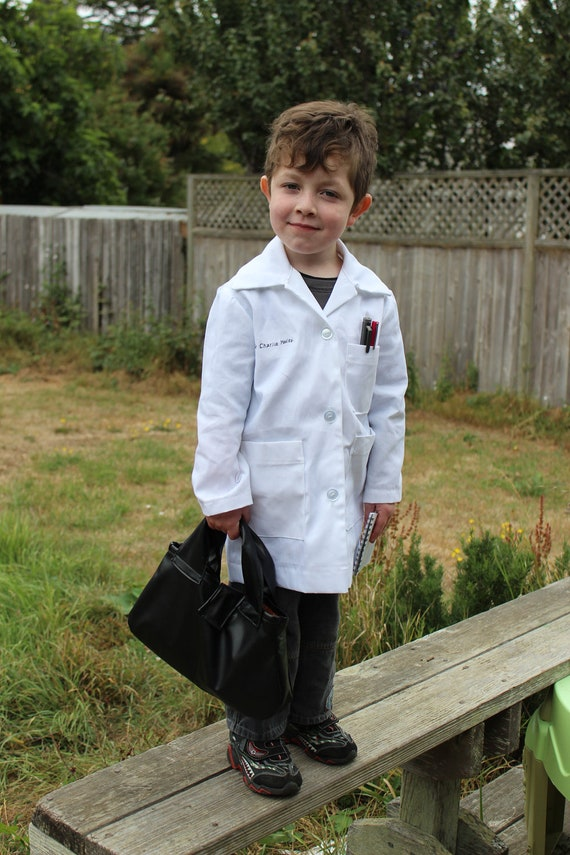 child size lab coat by SeamReapers on Etsy
